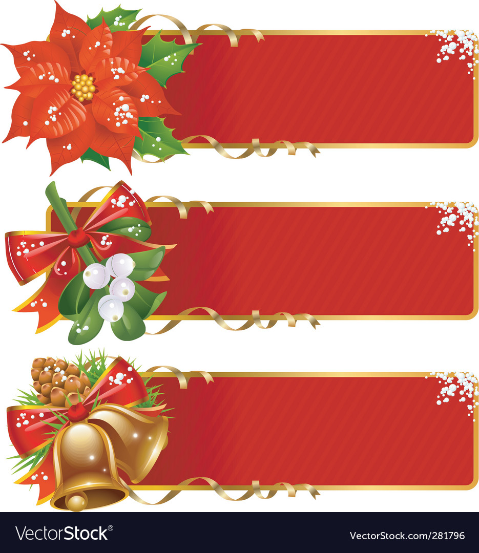 Christmas banner set vector | Price: 3 Credit (USD $3)
