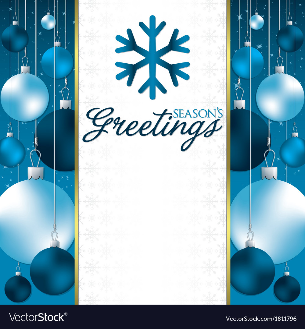 Christmas baubles invitation card in format vector | Price: 1 Credit (USD $1)