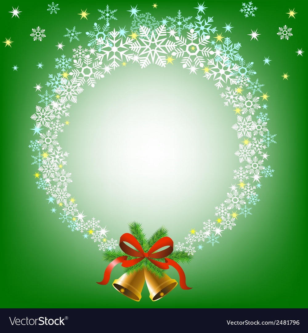 Christmas snowy frame vector | Price: 1 Credit (USD $1)