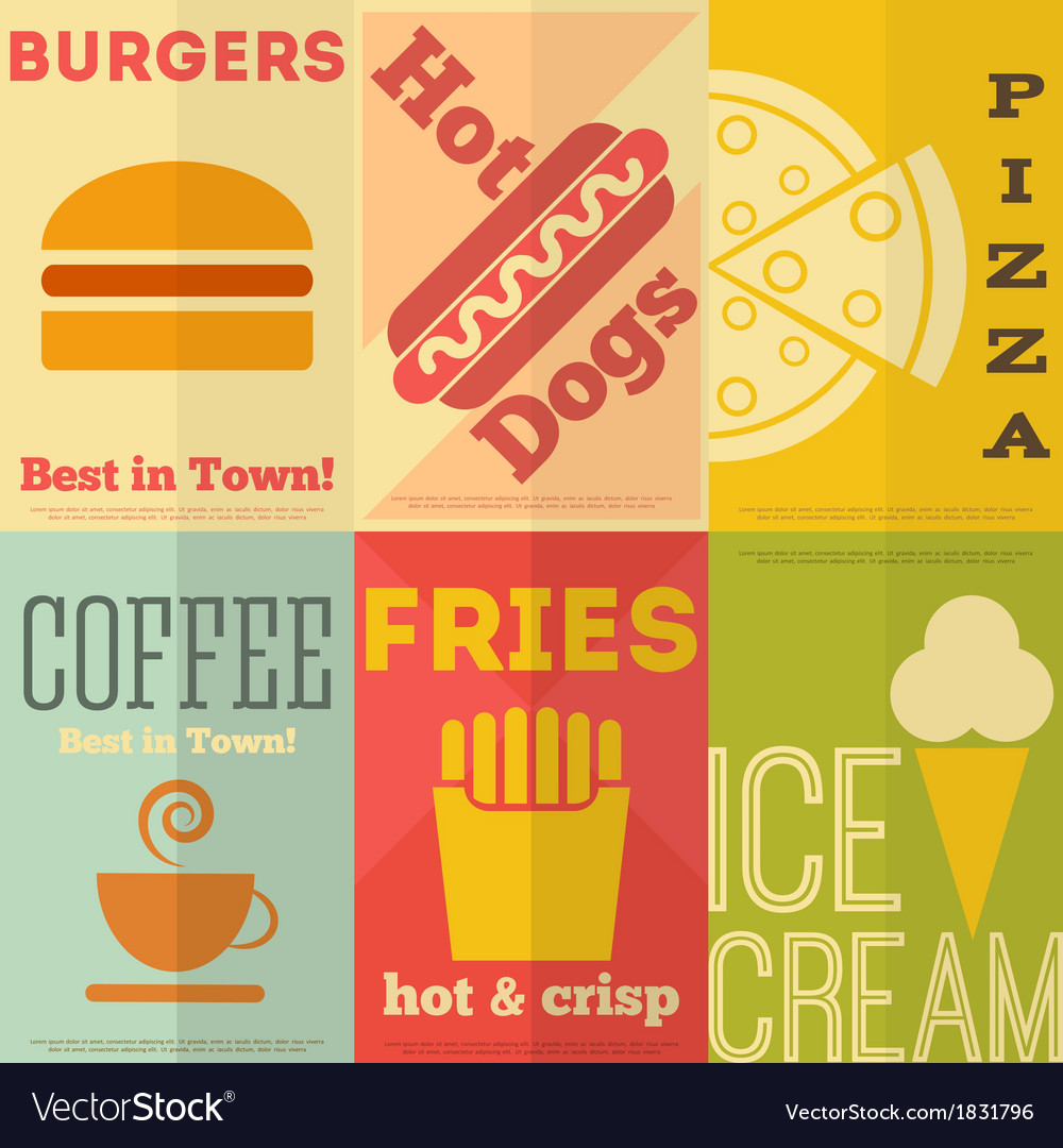 Fast food posters vector | Price: 1 Credit (USD $1)