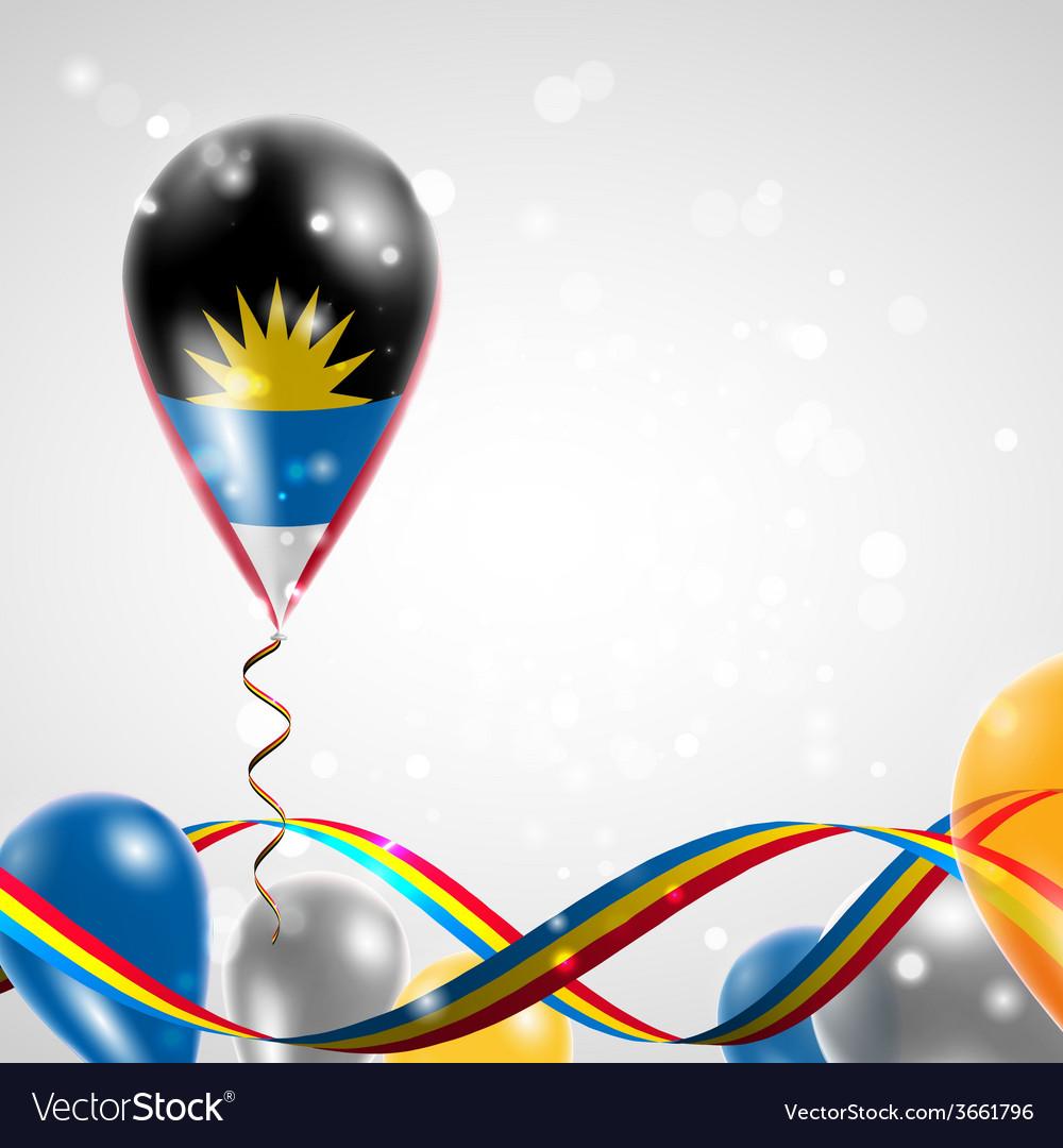 Flag of antigua and barbuda on balloon vector   Price: 1 Credit (USD $1)