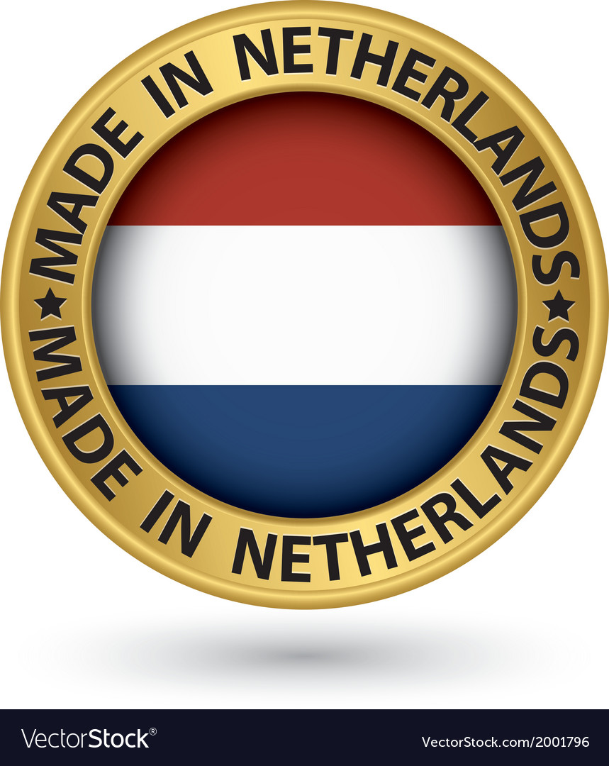 Made in netherlands gold label vector   Price: 1 Credit (USD $1)