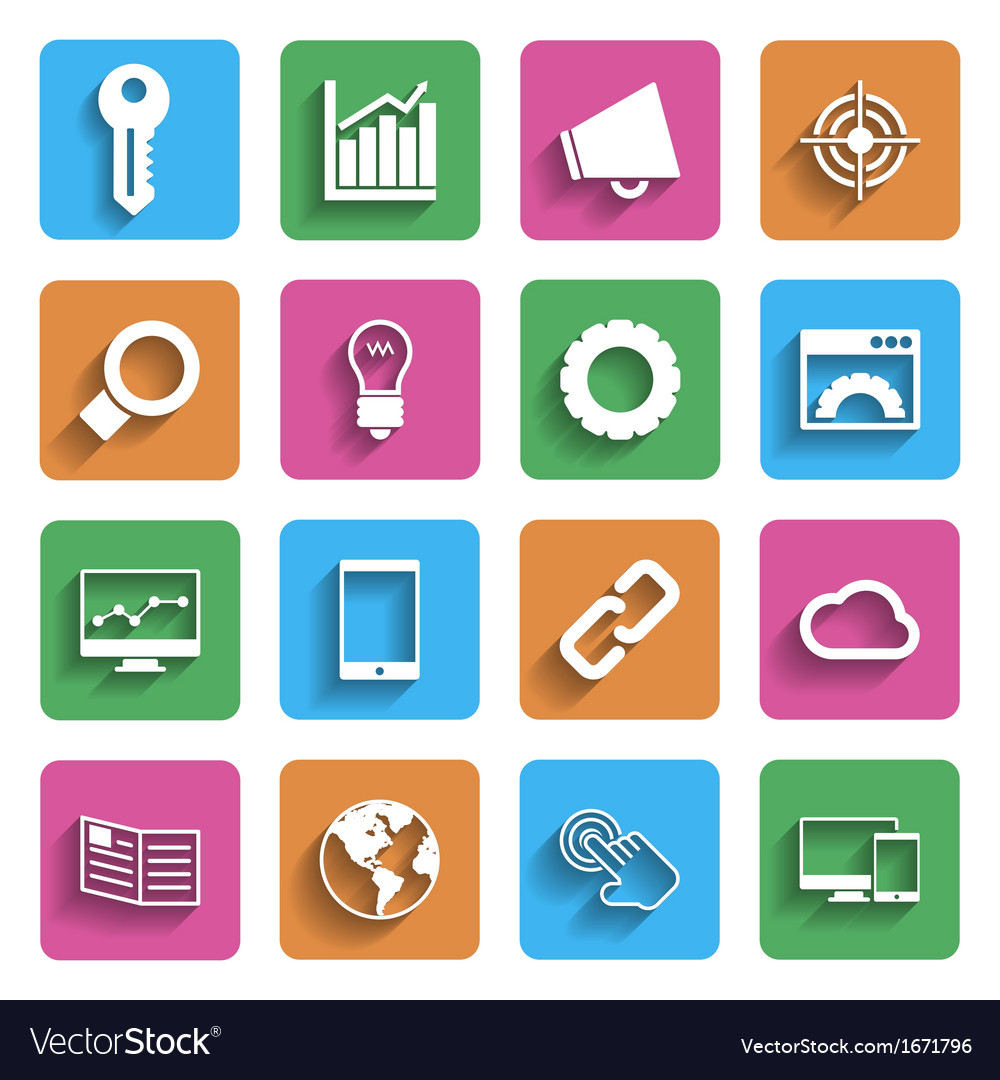 Modern internet marketing icons vector | Price: 1 Credit (USD $1)