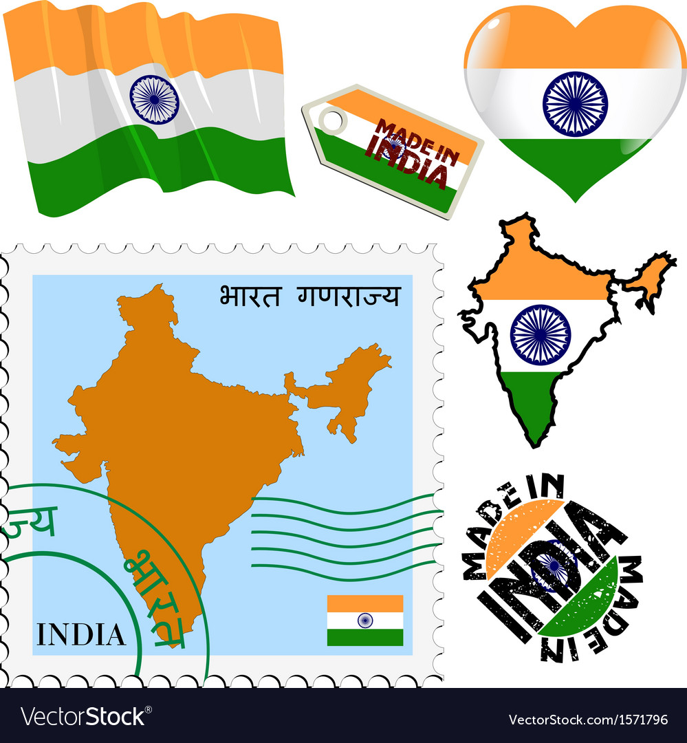 National colours of india vector | Price: 1 Credit (USD $1)