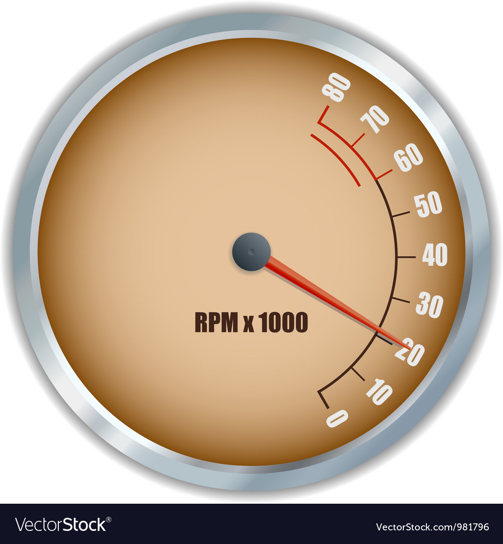 Retro tachometer vector | Price: 1 Credit (USD $1)