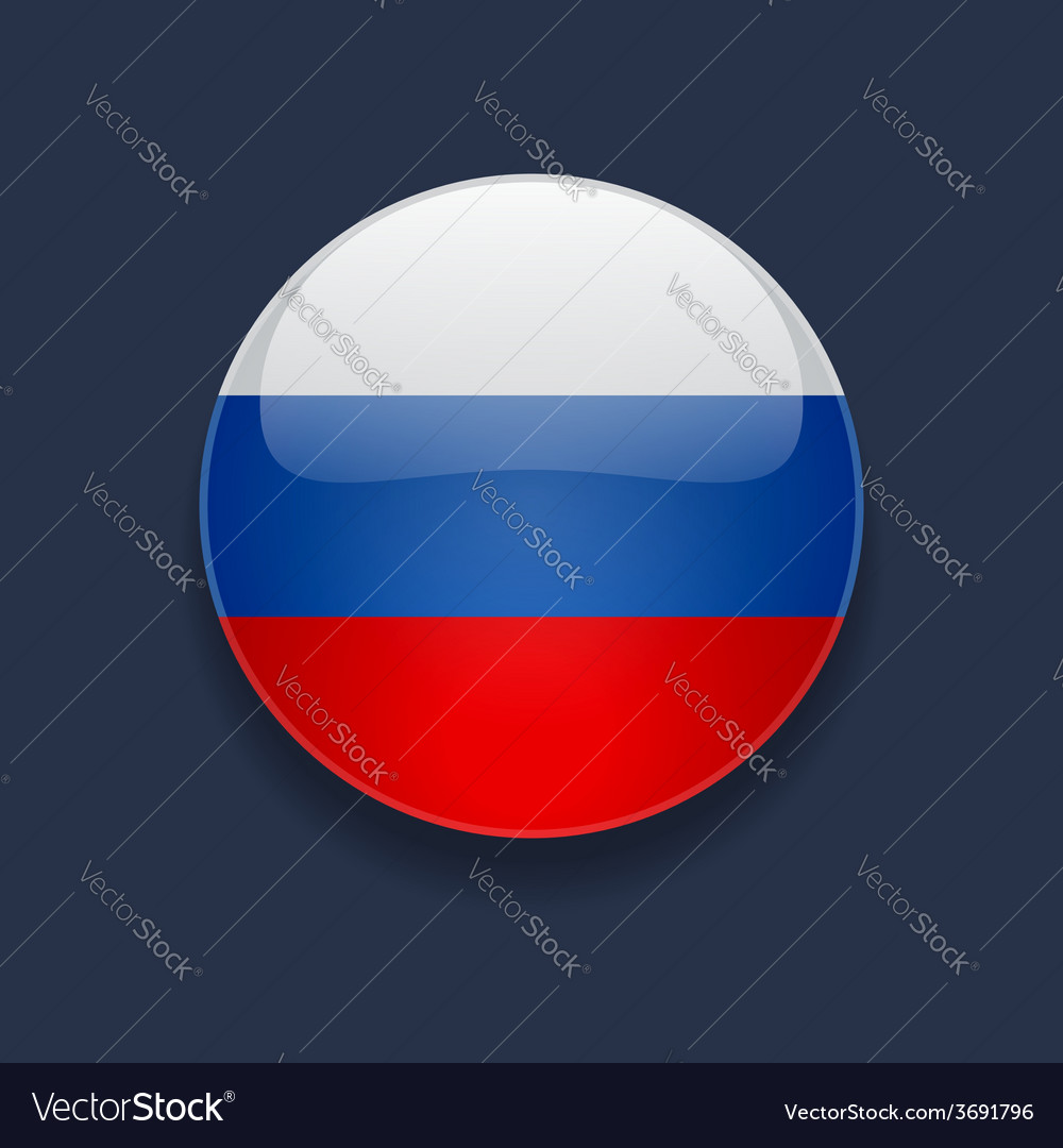 Round icon with flag of russia vector | Price: 1 Credit (USD $1)