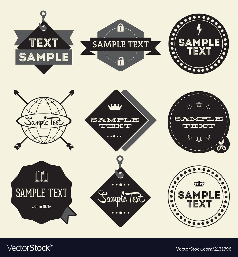 Set of vintage styled design hipster logo vector | Price: 1 Credit (USD $1)