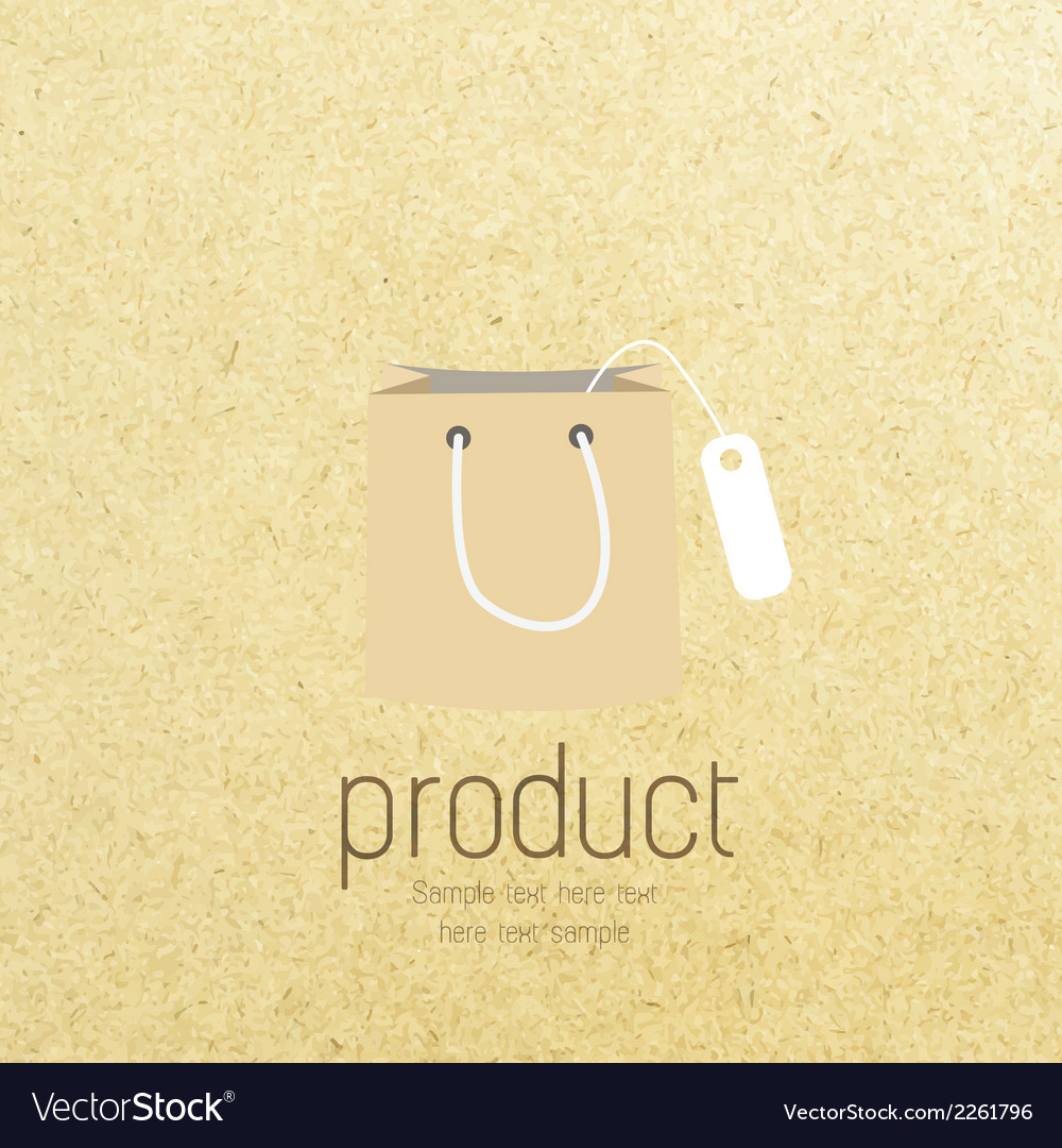 Shopping bag icon on paper vector | Price: 1 Credit (USD $1)
