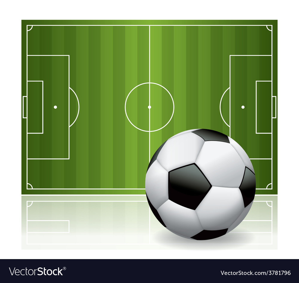 Soccer - football field and ball vector | Price: 3 Credit (USD $3)
