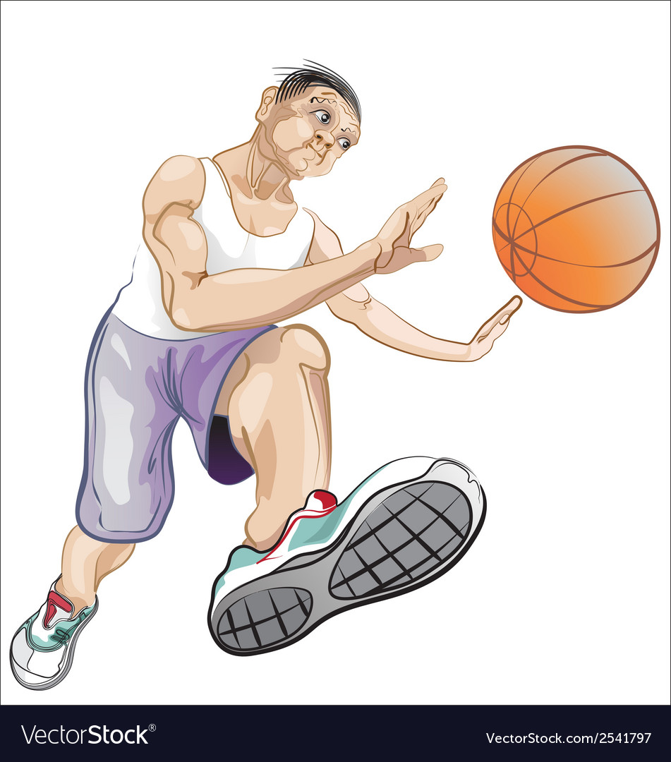 Ball player vector | Price: 1 Credit (USD $1)