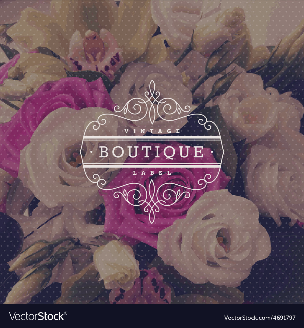 Boutique flourishes logo vector | Price: 1 Credit (USD $1)
