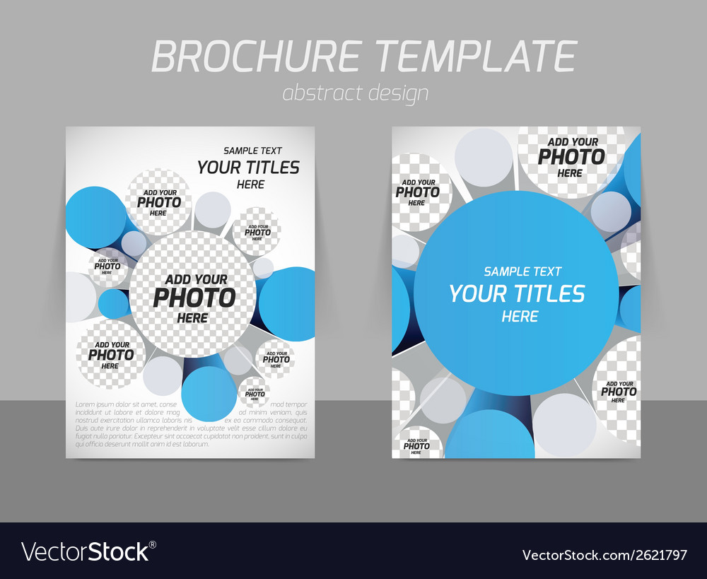 Brochure with 3d circles vector | Price: 1 Credit (USD $1)