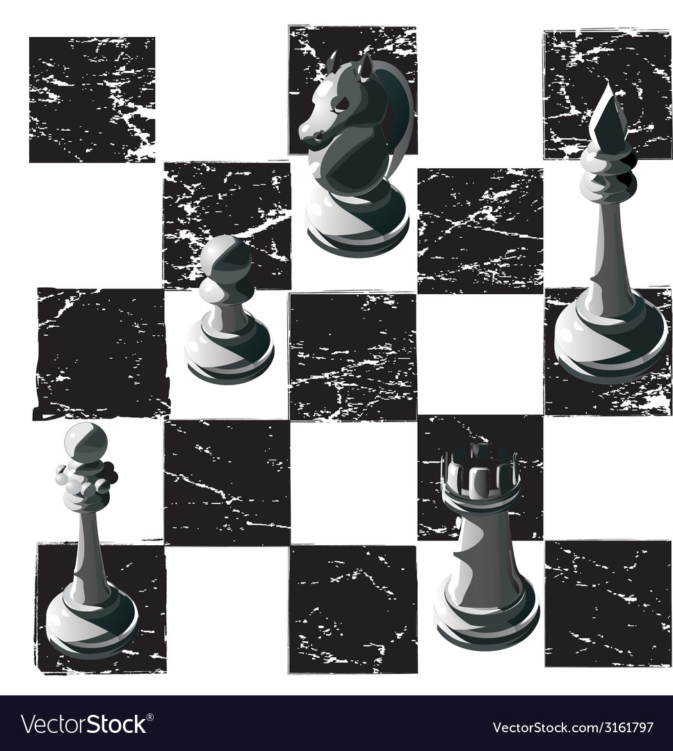 Chess black white graphics print game print man vector | Price: 1 Credit (USD $1)