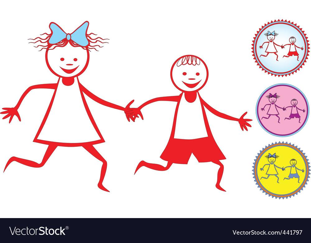 Children icon vector