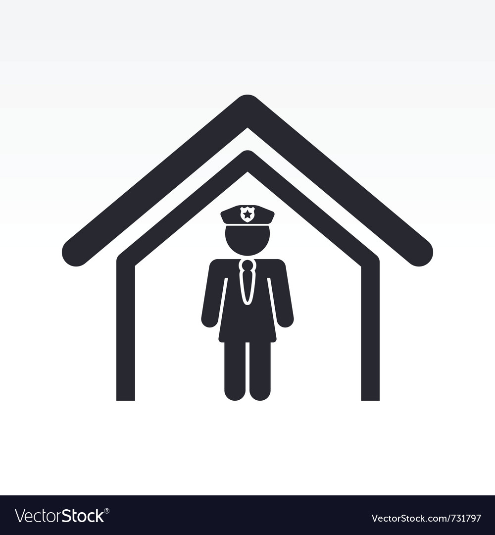 Cop in police station vector | Price: 1 Credit (USD $1)