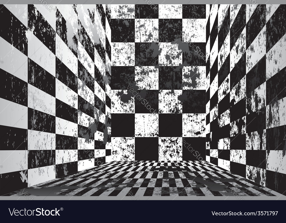 Dirty checkered room vector | Price: 1 Credit (USD $1)