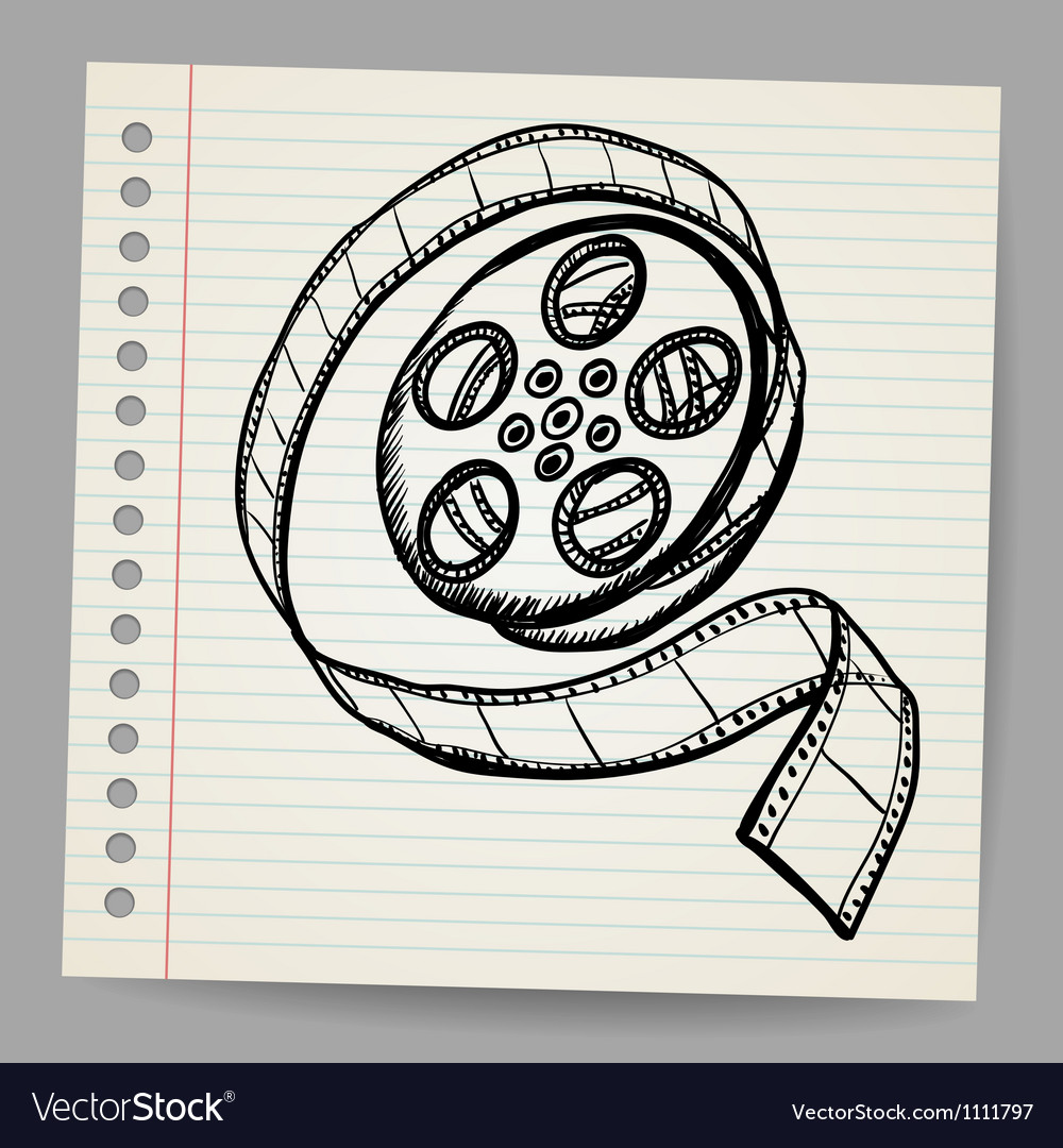 Doodle reel of film vector | Price: 1 Credit (USD $1)