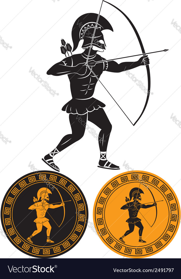 Gladiator arrows vector | Price: 1 Credit (USD $1)