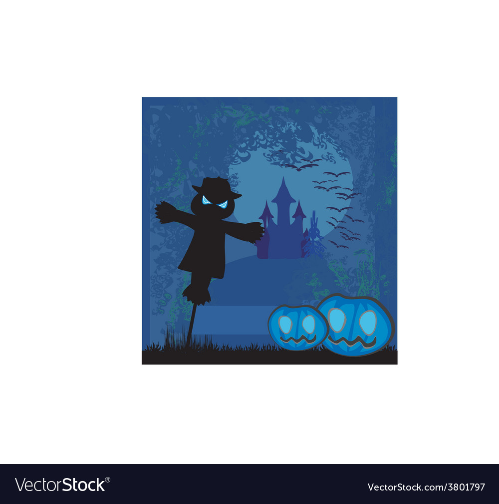 Halloween scary scarecrow vector | Price: 1 Credit (USD $1)