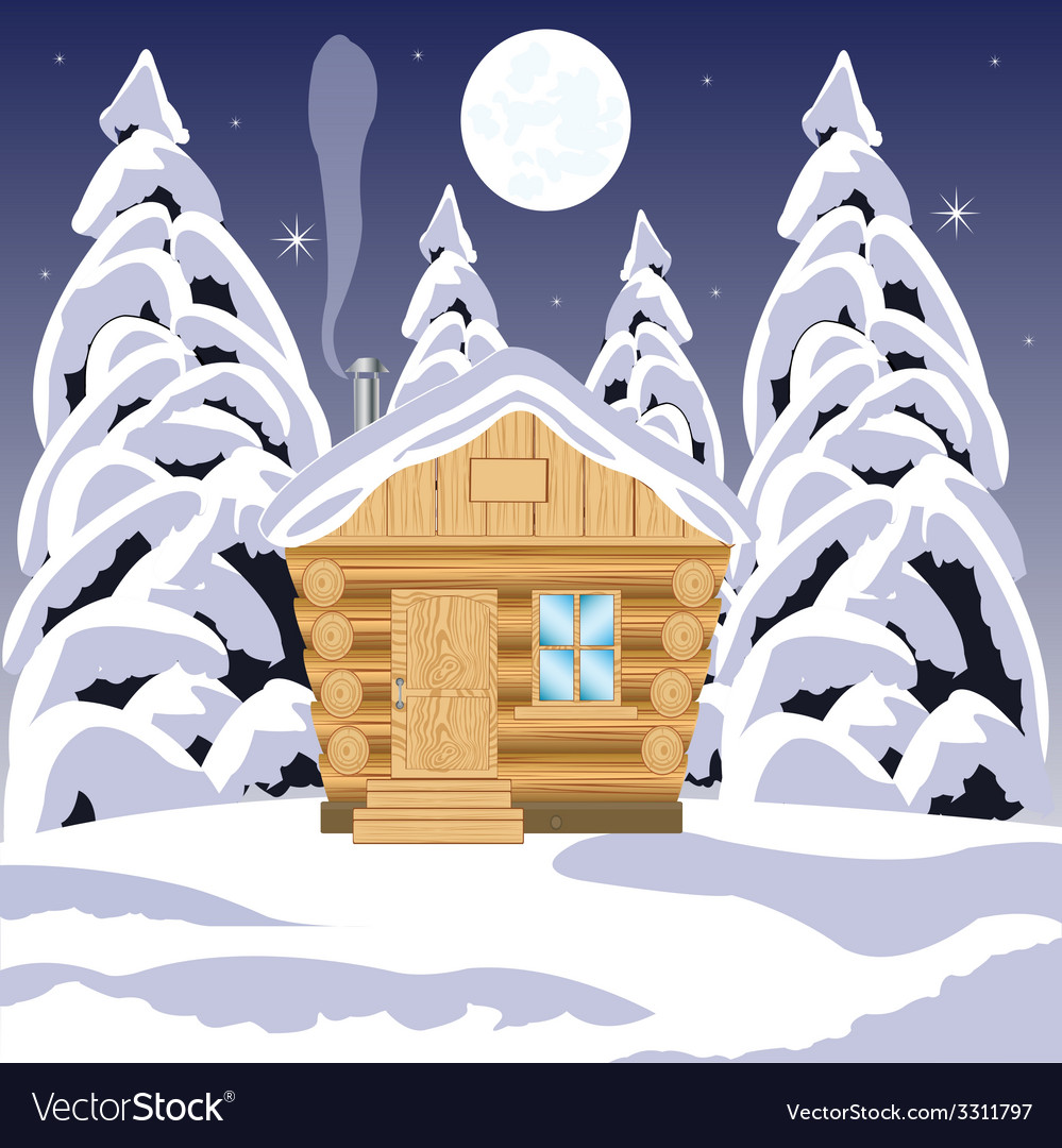 House in wood vector | Price: 1 Credit (USD $1)