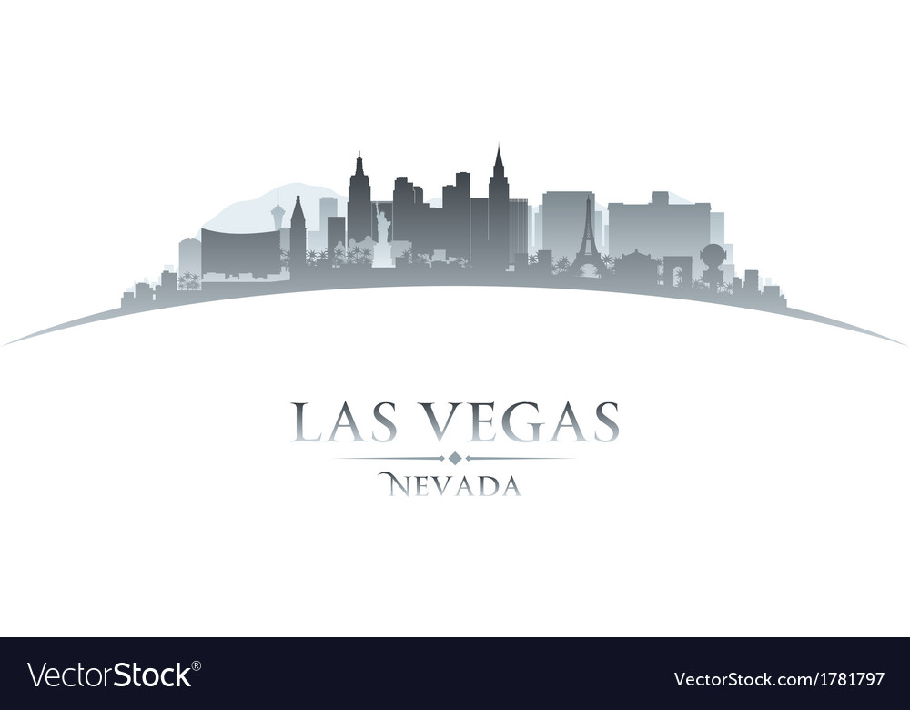 Las vegas nevada city skyline silhouette vector | Price: 1 Credit (USD $1)