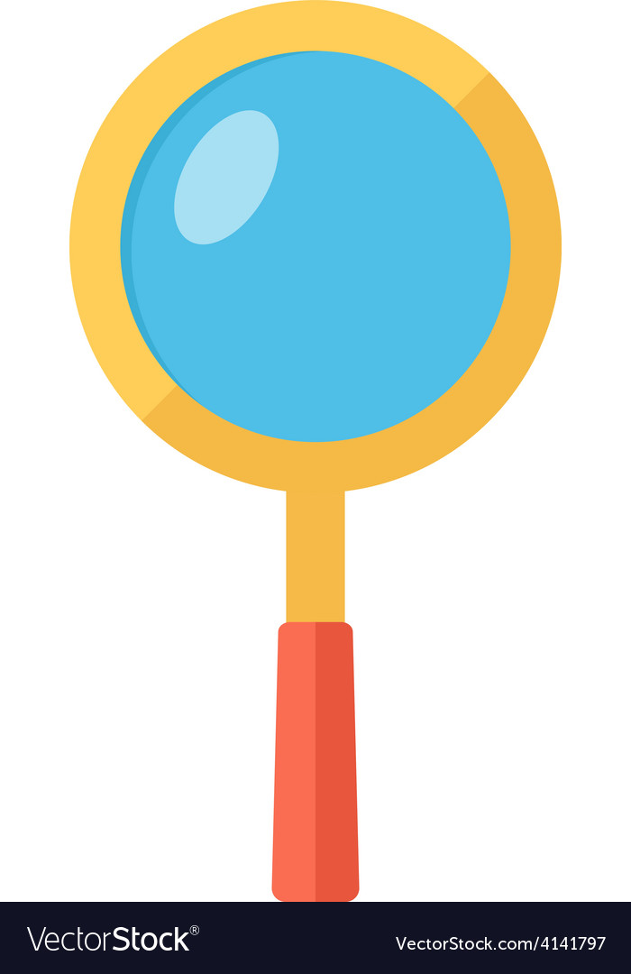 Magnifying glass searching symbol vector | Price: 1 Credit (USD $1)