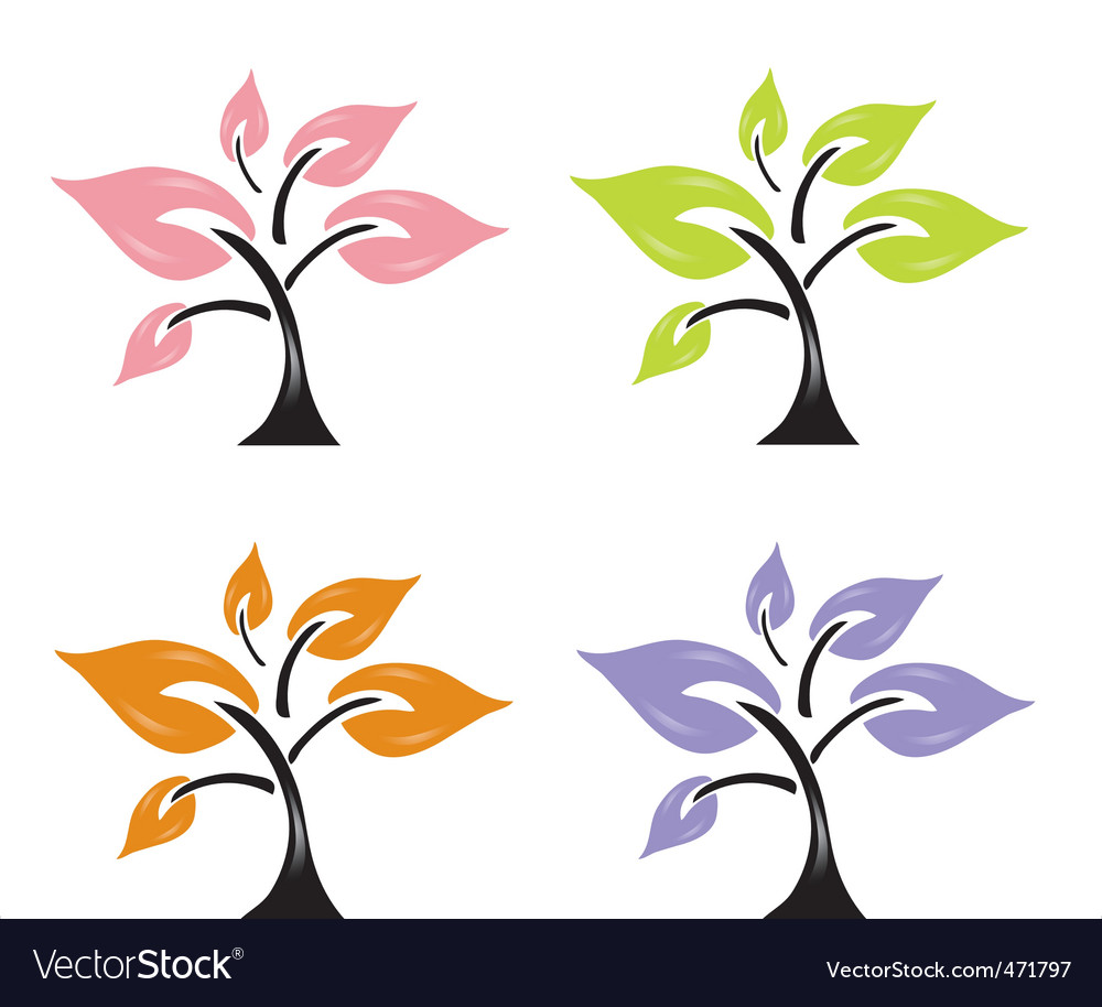 Nature symbols vector | Price: 1 Credit (USD $1)
