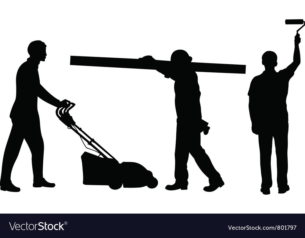 People working vector | Price: 1 Credit (USD $1)
