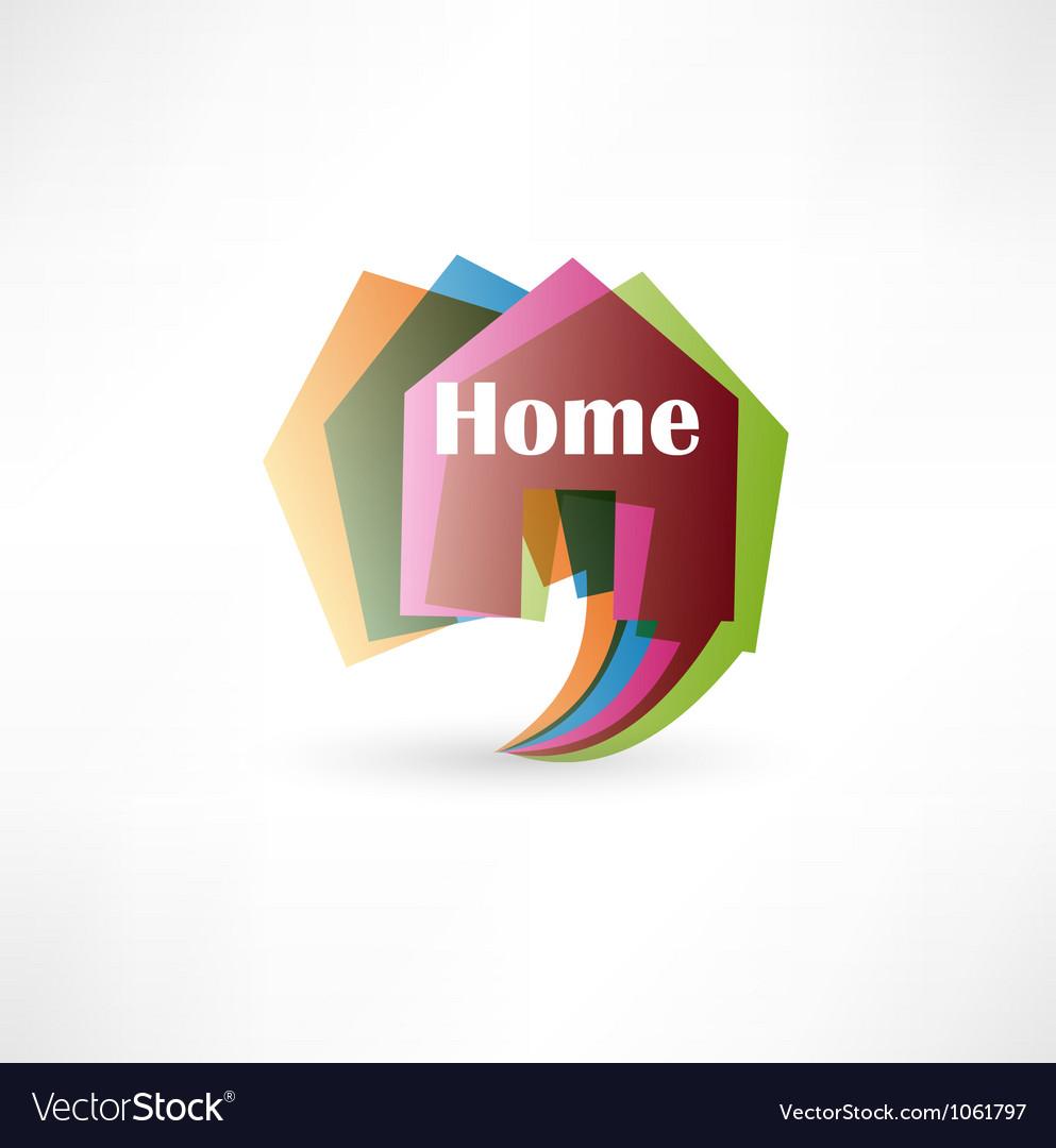 Real estate concept design element speech bubble vector | Price: 1 Credit (USD $1)