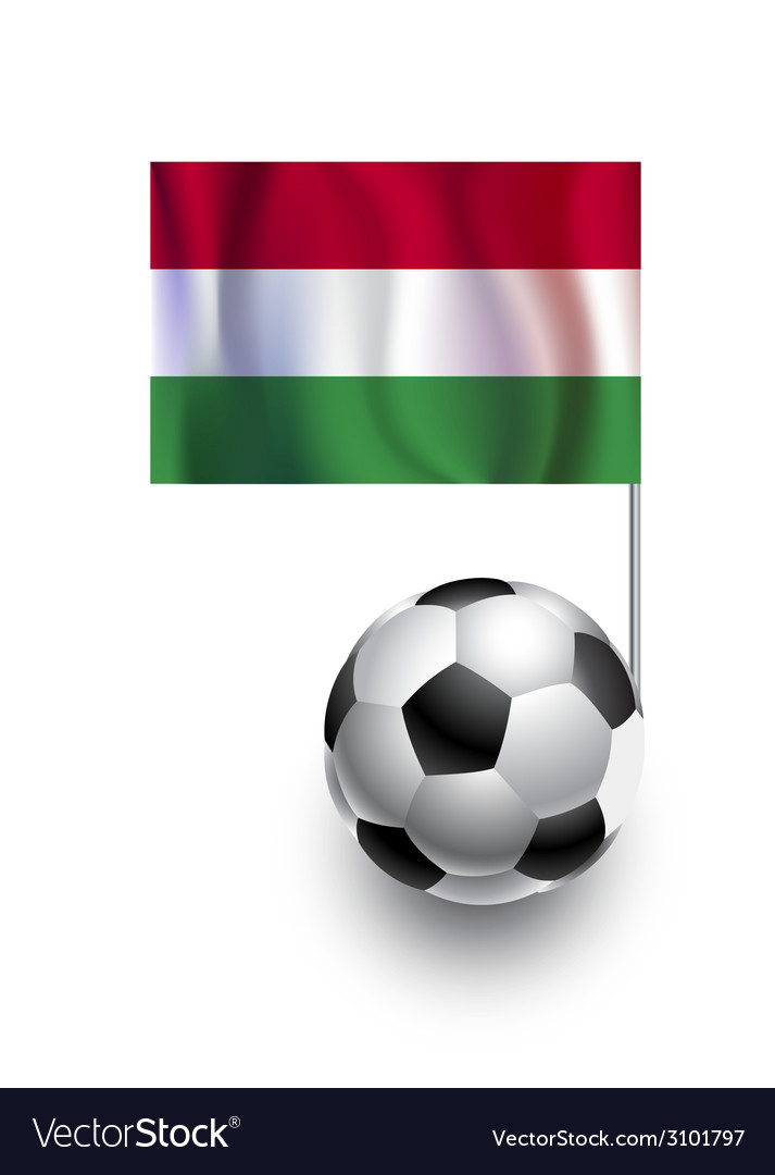 Soccer balls or footballs with flag of hungary vector | Price: 1 Credit (USD $1)