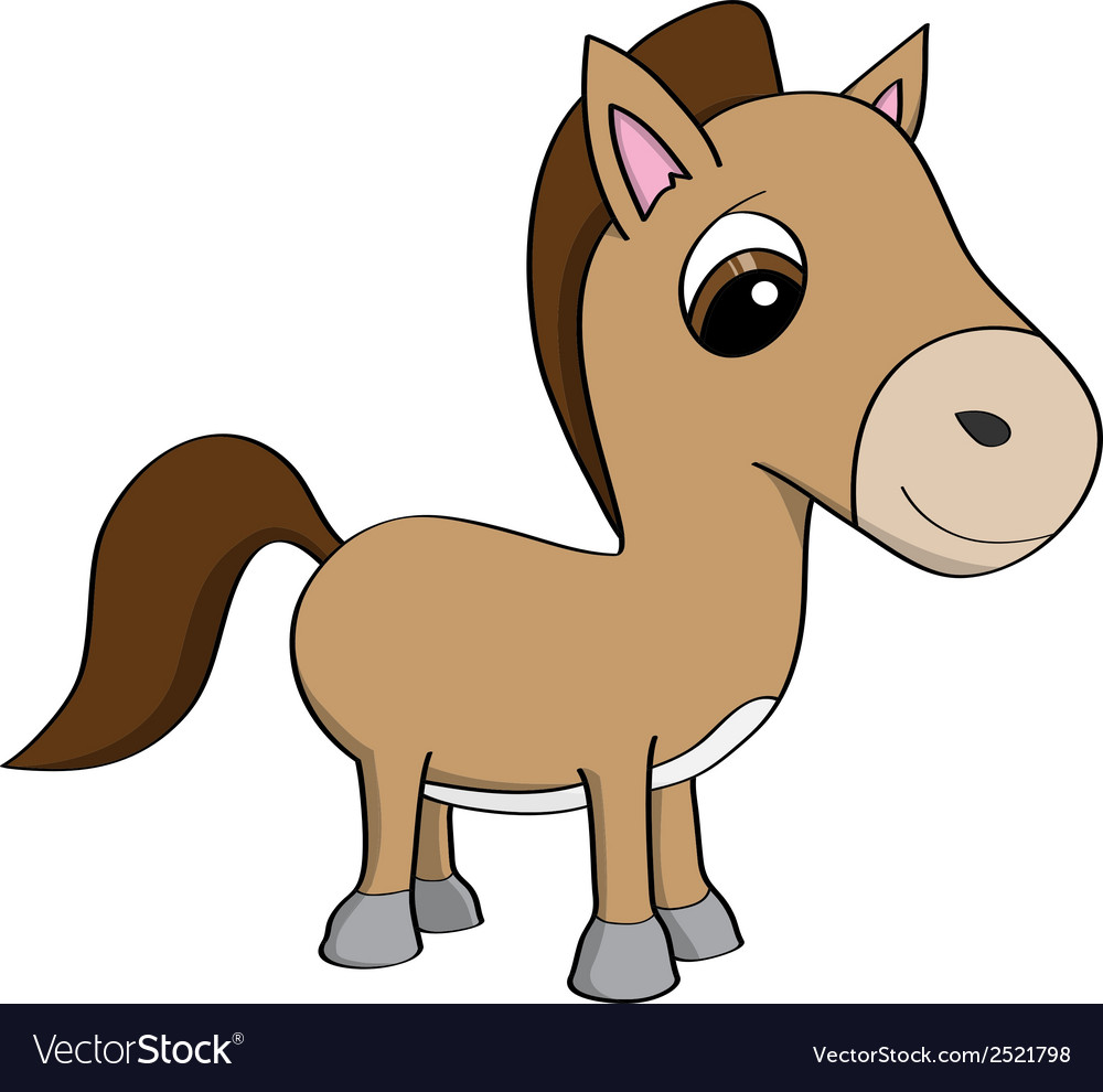 Cartoon of a cute little pony vector | Price: 1 Credit (USD $1)