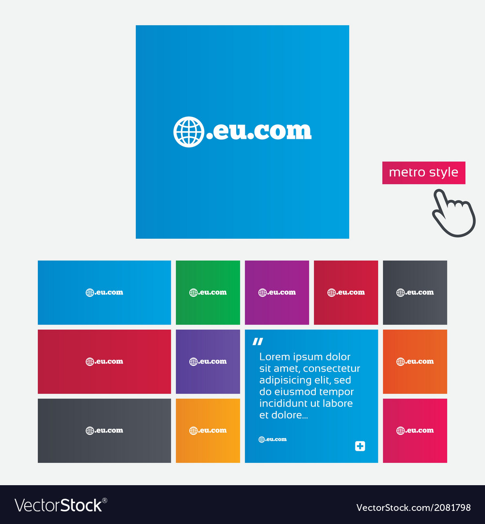 Domain eucom sign icon internet subdomain vector   Price: 1 Credit (USD $1)