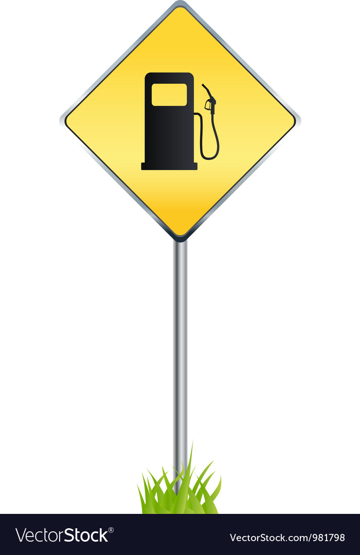 Gas station warning sign vector | Price: 1 Credit (USD $1)