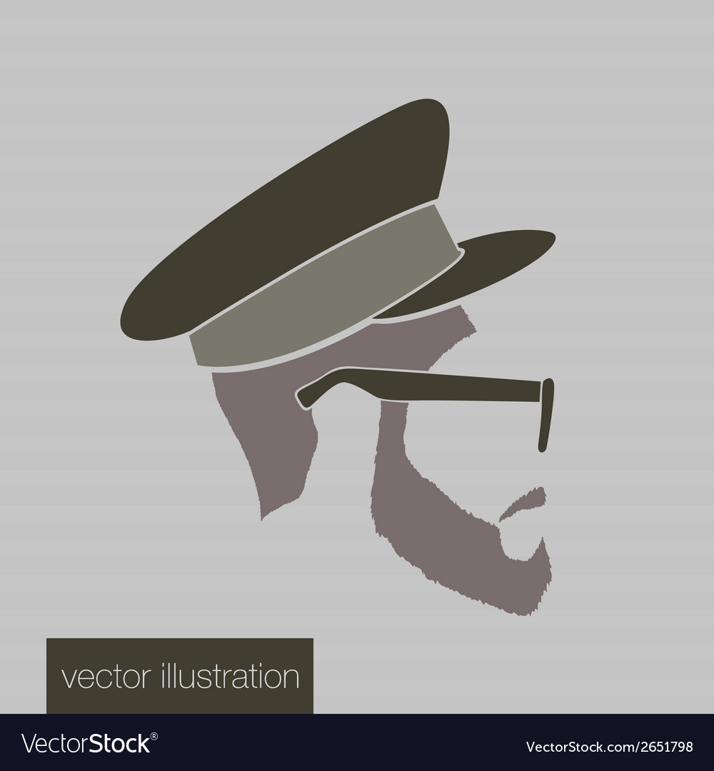 Icon man in a headdress vector | Price: 1 Credit (USD $1)