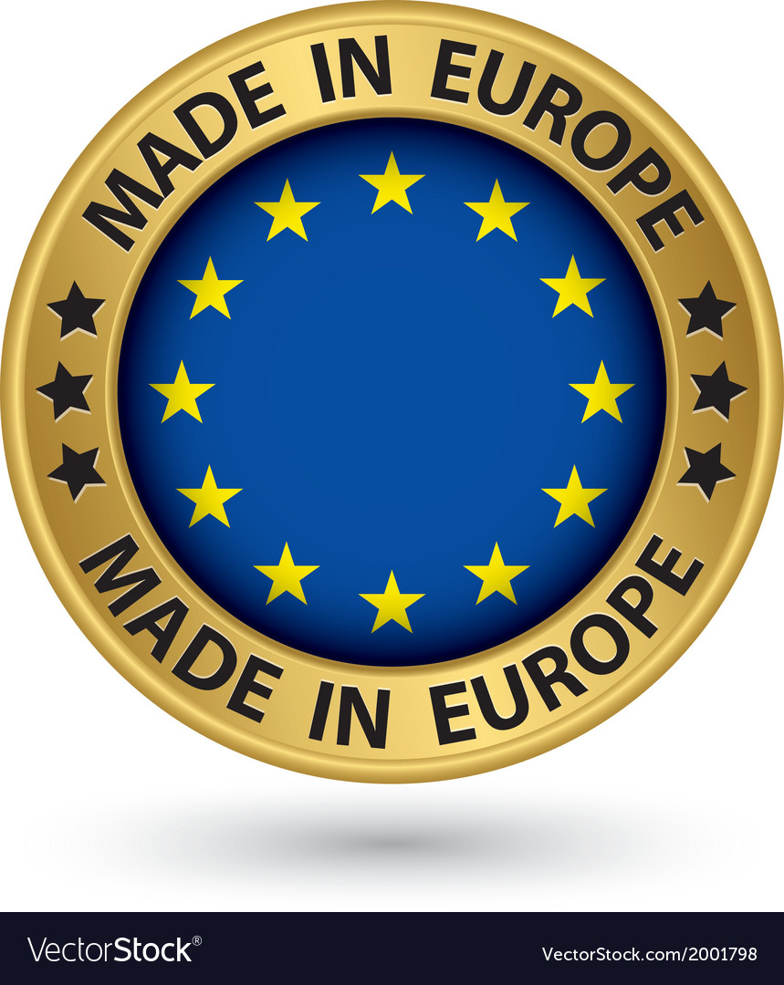 Made in europe gold label vector | Price: 1 Credit (USD $1)