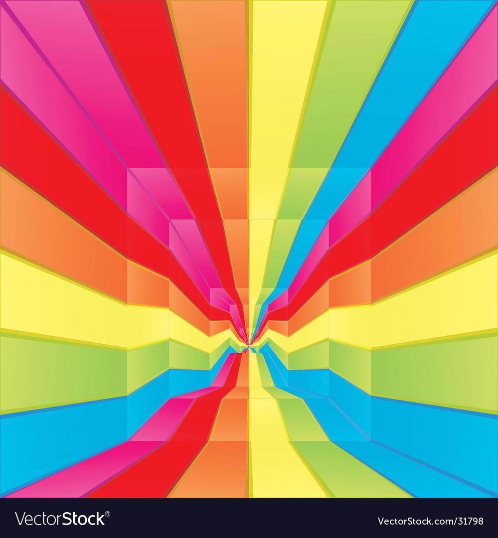Rainbow labyrinth design vector | Price: 1 Credit (USD $1)