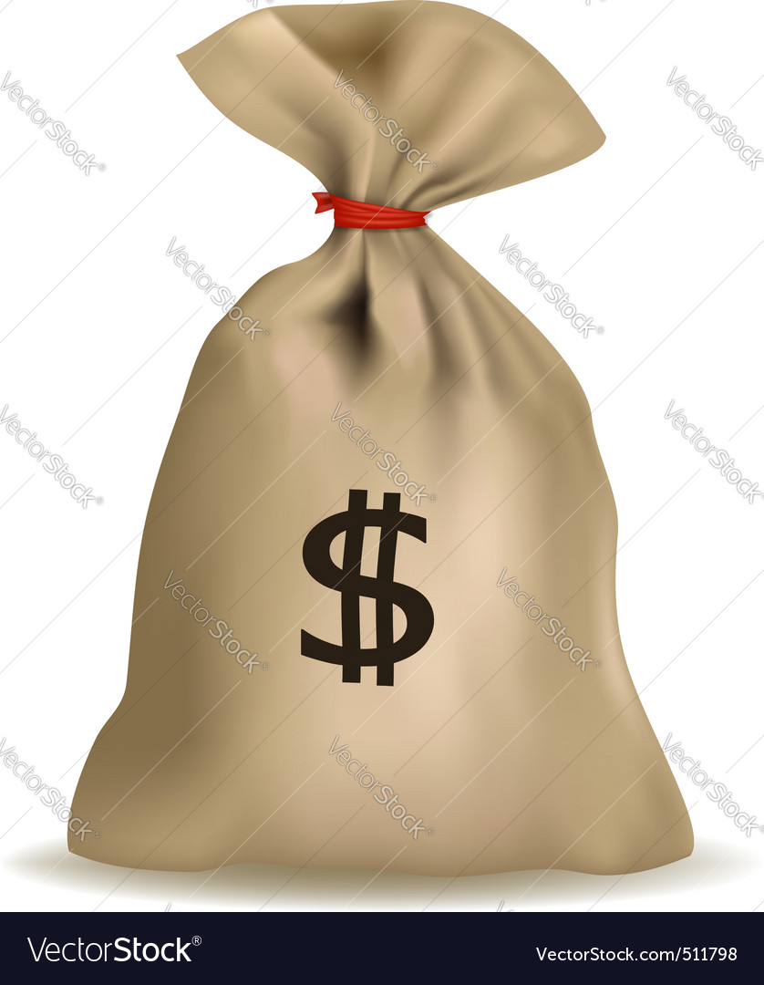 Sack of money vector | Price: 1 Credit (USD $1)