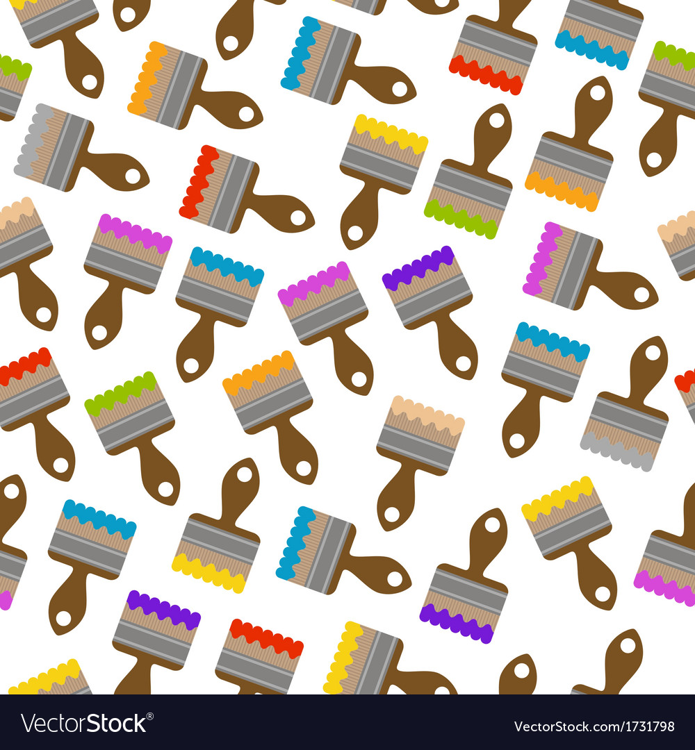 Seamless pattern with paintbrushes vector | Price: 1 Credit (USD $1)
