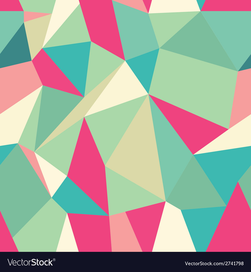 Seamless polygonal pattern background vector | Price: 1 Credit (USD $1)