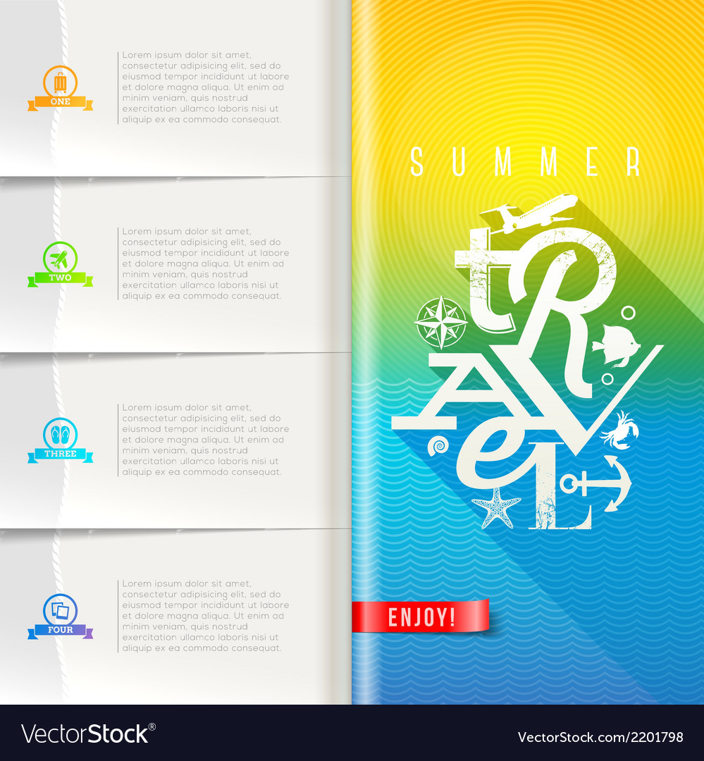 Summer travel design vector | Price: 1 Credit (USD $1)