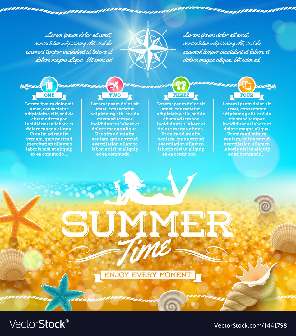 Summer vacation and travel design vector | Price: 3 Credit (USD $3)