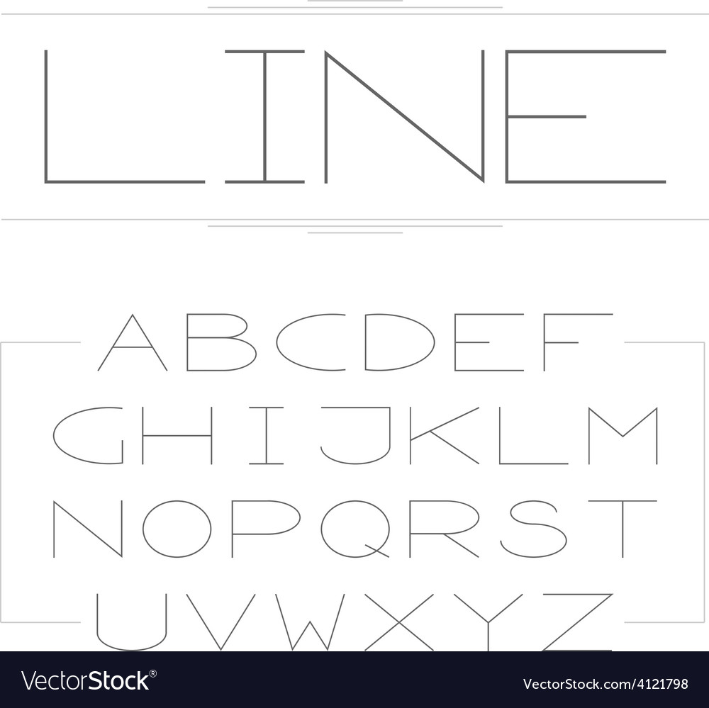 Thin lined modern alphabet vector | Price: 1 Credit (USD $1)