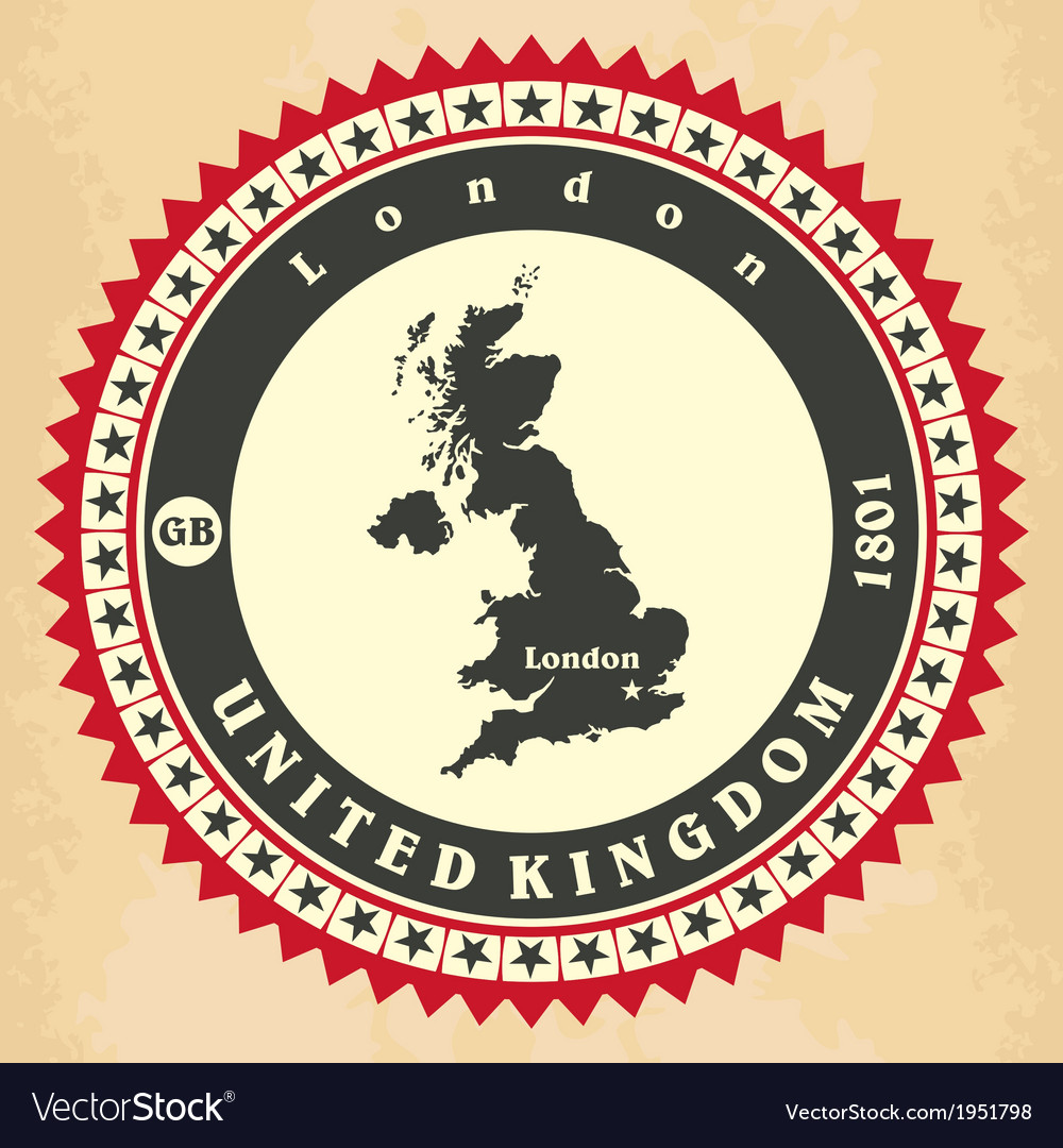 Vintage label-sticker cards of united kingdom vector | Price: 1 Credit (USD $1)