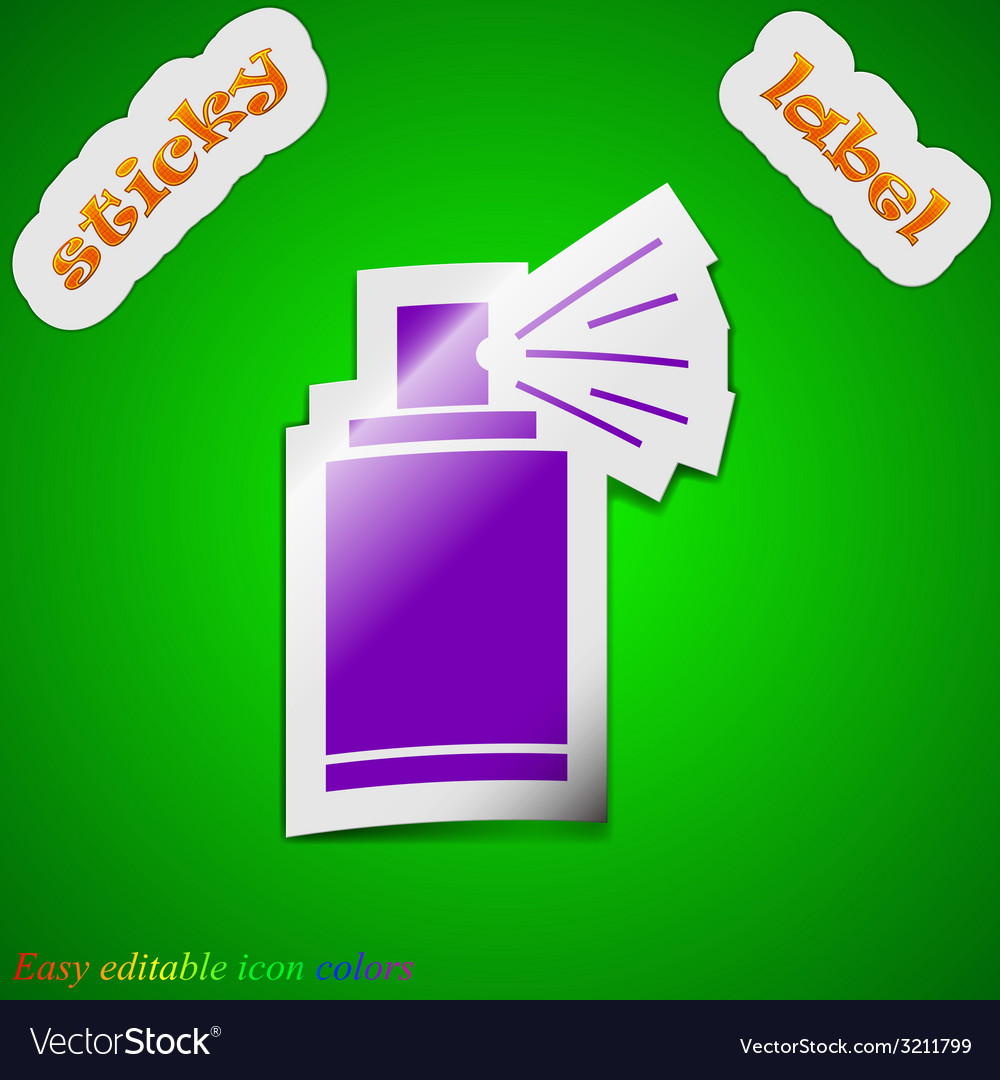 Aerosol paint icon sign symbol chic colored sticky vector | Price: 1 Credit (USD $1)