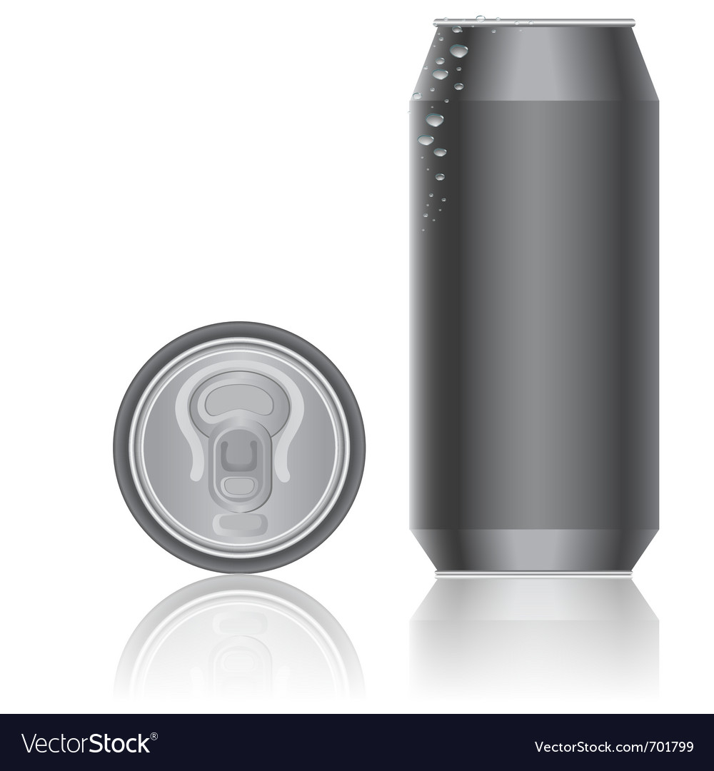 Aluminum packaging for beverages vector | Price: 1 Credit (USD $1)
