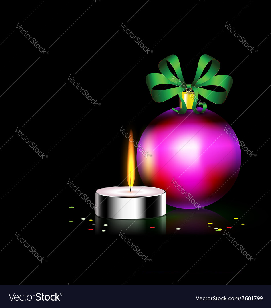 Candle christmas ball vector | Price: 1 Credit (USD $1)