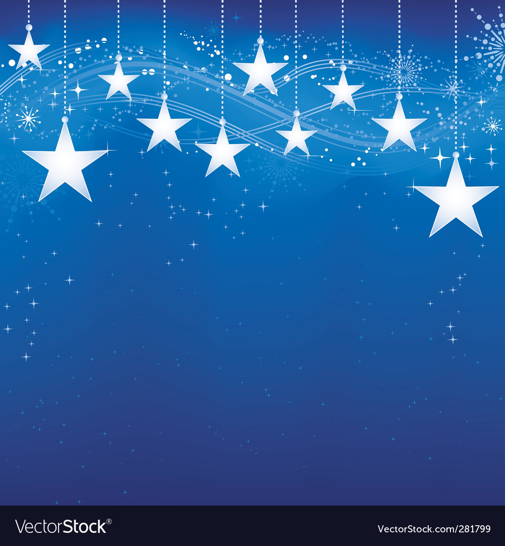 Christmas stars vector | Price: 1 Credit (USD $1)