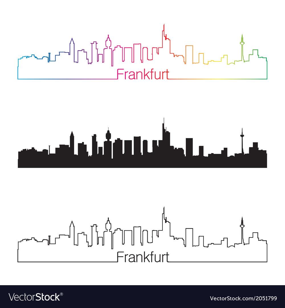 Frankfurt skyline linear style with rainbow vector | Price: 1 Credit (USD $1)