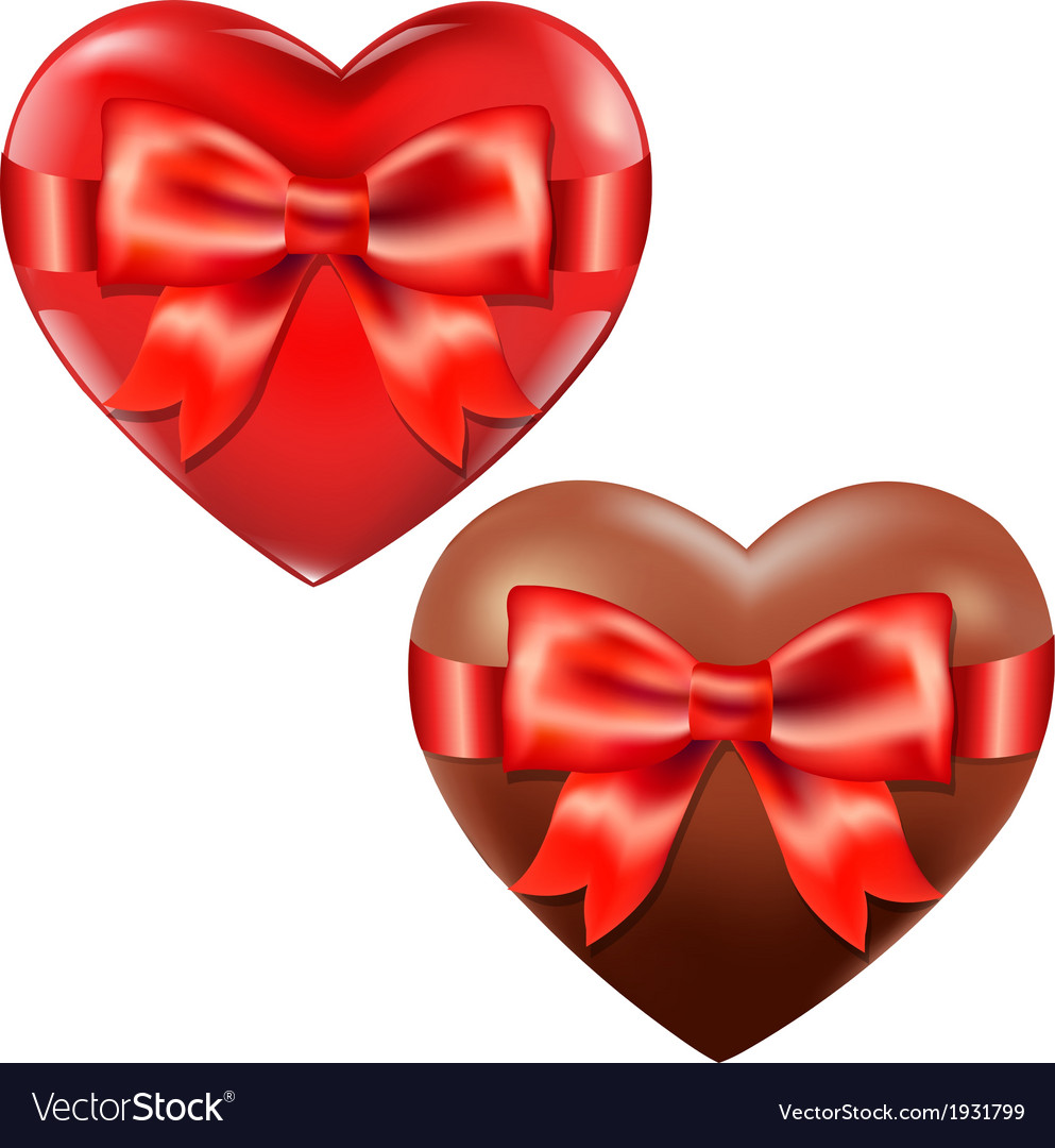Hearts with red bow vector   Price: 1 Credit (USD $1)