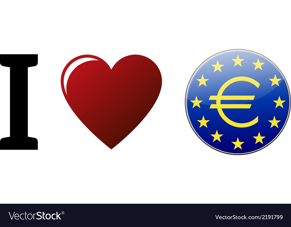 I love euro vector | Price: 1 Credit (USD $1)